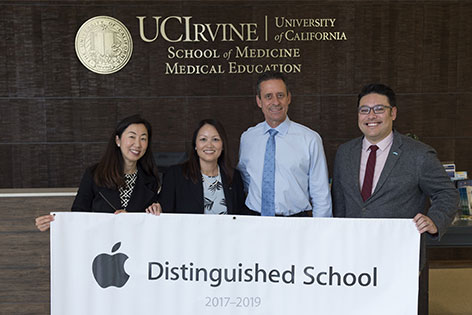UC Irvine School of Medicine leaders receive Apple's Distinguished School award.