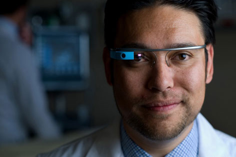 Dr. Warren Wiechmann demonstrates how Google Glass can enhance medical school training