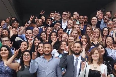 Graduating 2017 UC Irvine medical students rejoice at their matches with residency programs, where they will complete their medical training.