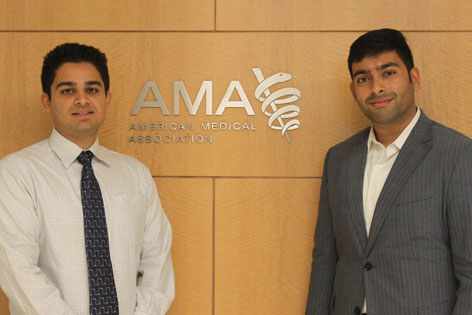 UC Irvine medical students Asghar Haider and Raja Narayan