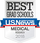 U.S. News & World Report -- Best Medical School for Research 2018