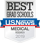 U.S. News & World Report -- Best Medical School for Research 2019