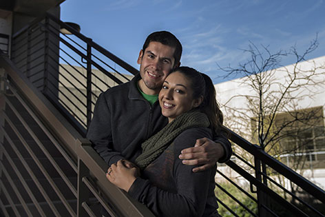 UC Irvine medical students Miguel Alvarez-Estrada and Krystal Jimenez are engaged, about to graduate from medical schoo, and plan on practicing medicine together.