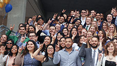 Medical students celebrate Match Day 2017, when they learned where they'll begin their first post as a doctor.