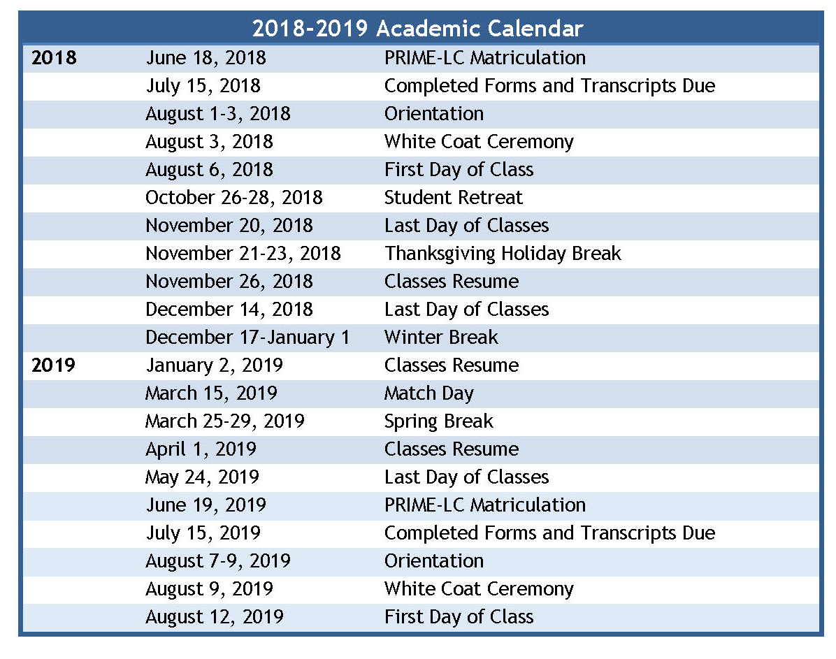 Uci Academic Calendar 2020 Important Dates | Medical Education | School of Medicine